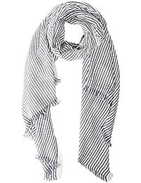 MOLLY BRACKEN Châle soirée dété, Estola para Mujer, Multicolore (Offwhite/
