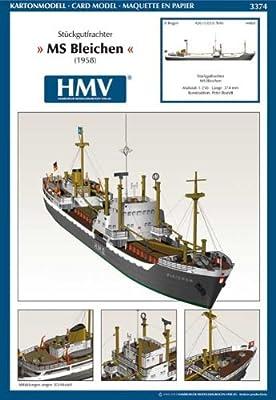 Hmv 3374papermodel Cargo Freighter MS Bleichen