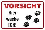 Schild - Vorsicht Hund Hunde Tatzen Pfoten