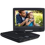 """Pumpkin 10.1"""" Reproductor de DVD CD Portátil Mutimedia soporta USB / Tarjeta SD, Color Negro"""