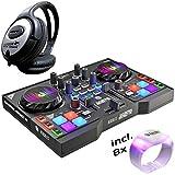 Hercules DJControl Instinct P8Contrôleur DJ Party Pack + Casque keepdrum