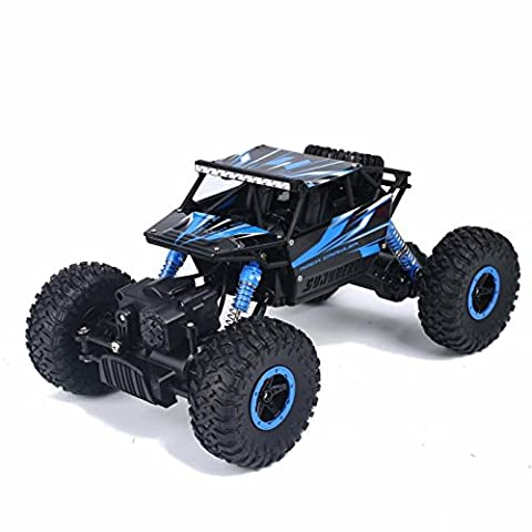 SZJJX RC Rock Off-Road Vehicle 2.4Ghz 4WD High Speed 1:18 Racing Cars RC Cars Remote Radio Control Cars Electric Rock Crawler Electric Buggy Hobby Car Fast Race Crawler - Blue