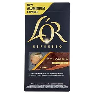 519QuZ2%2BTIL._SS300_ L'Or - Capsule Caffè Espresso Onyx - Compatibili con Macchine Nespresso - 10 Capsule in Alluminio - Intensità 12