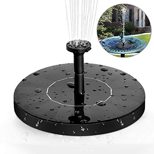 Solar Springbrunnen, solawill Solar Teichpumpe mit 1.4W Monokristalline Solar Wasserpumpe Einfache Installation Solar schwimmender Fontäne Pumpe für Gartenteich Oder Springbrunnen Fisch-Behälter
