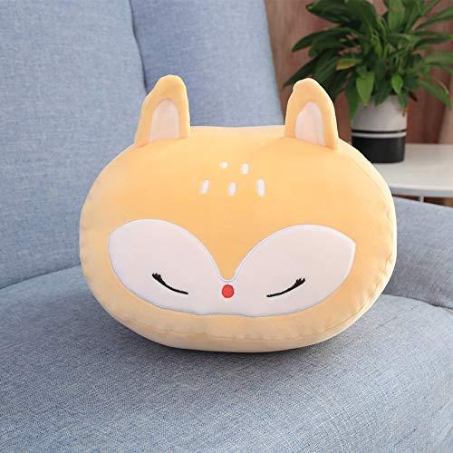 MIAOOWA Official Store Puppe 30cm Gefülltkaomoji Drehen Sie Handwärmer Plüsch Spielzeug Weiche Tier Cartoon Schlafen Kissen Süße Kinder Puppe Home Dekoration 27 x 25 x 20cm ca. 0.3kg Gelber Fuchs
