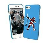 Flat Design Ice Hockey Player Sport Passion Dab iPhone 6 7 8 X Galaxy Note 8 Huawei Schutzhülle aus Hartplastik Hard Plastic Handy Hülle