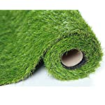 Sumc Artificial Grass Outdoor Green High Density Fake Lawn Turf of Dogs Pets Natural&Realistic Looking Garden Tidy Lush…