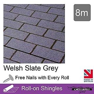 Ashbrook Roofing Chesterfelt Roll-On Shingles   Shed Felt Shingles   Square Butt   8m   Welsh Slate Grey