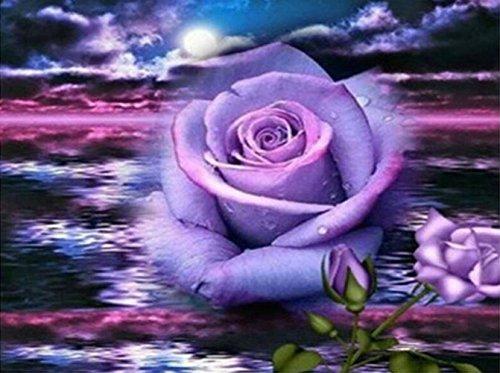 5d Diamant Peinture point de croix Kits mosaïque DIY fait à la main pleine Foret Résine Diamant à broder avec ce qui la rend Lot d'accessoires de cadeaux pour décoration de la maison, rose, 50 x 60 cm