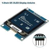 Innovateking-EU Modulo Display OLED I2C Display LCD Arduino modulo OLED da 1,5 Pollici Chip Driver SSD1327, 128x128 Pixel,Livello di Grigio a 16 Bit con interfaccia I2C, DC 3.3V / 5V per Arduino