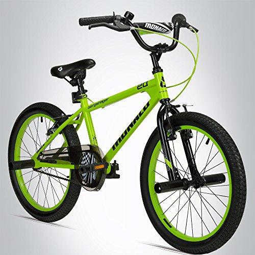 Bergsteiger Monaco 20 Zoll BMX, Kinderfahrrad, geeignet für 6, 7, 8, 9 Jahre, Freestyle, 4 Stahl Pegs, Kettenschutz, Freilauf - Bike 20 Bmx Zoll