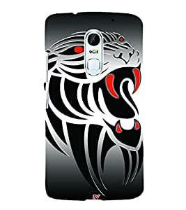 Animated Tiger Design 3D Hard Polycarbonate Designer Back Case Cover for Lenovo Vibe X3