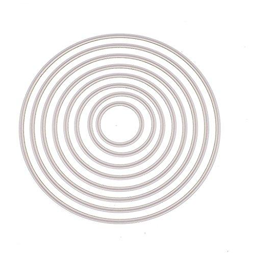 Ruda Formen Schablone rund DIY Scrapbooking Prägung Album Papier Karte Crafts