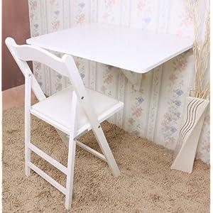 SoBuy FWT02-W Küchentisch Wandklapptisch Esstisch 2X klappbar Schreibtisch Weiß 80x60cm