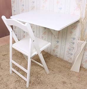 sobuy klapptisch zur wandmontage f r k che esszimmer kinder schreibtisch 75 x 60 cm fwt01 w. Black Bedroom Furniture Sets. Home Design Ideas