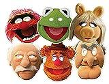 Faschingsfete Erwachsene Muppets Masken, 6 Stück, Die Muppet Show, Mehrfarbig