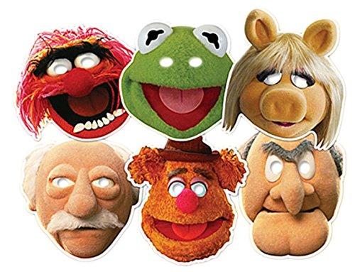 sene Muppets Masken, 6 Stück, Die Muppet Show, Mehrfarbig (Pferd Kostüm Make-up)