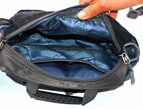 Medifier Unisex Herren Sport Beinbeutel Taschen Hüfttasche Gürteltasche Tasche Bauchtasche Trinkflasche Halter Pouch Outdoor Blau
