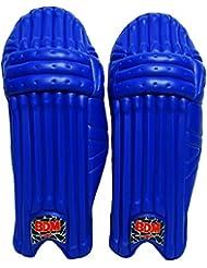 Untamed Pro BDM para hombre Cricket Pierna Guardia Diestro cuero azul de bateo de ratón de la PU