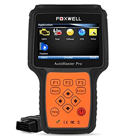 FOXWELL NT624 Diagnostic Code Reader All-Makes All-Systems Professional Car Scanner Check Engine/ ABS/ Airbag/ Transmisson/ EPB/ Oil Service Vehicle Diagnostic Tool