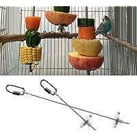 dairyshop Vogel Parrot Käfig Edelstahl Spieß Lebensmittel Fleisch Stick Spear Fruchthalter Spielzeug