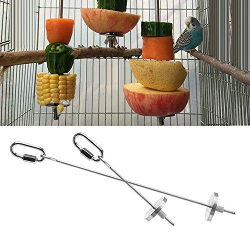 dairyshop Vogel Parrot Käfig Edelstahl Spieß Lebensmittel Fleisch Stick Spear Fruchthalter Spielzeug Kinder Fehler Käfig