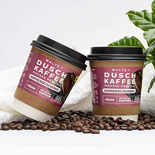 Duschpeeling Duschkaffee Espresso Schoko Monatskur zur Hautverbesserung Natürlicher Genuss für die Haut von WALTZ 7
