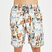 Pantalones Cortos de Playa, Pantalones Cortos de Surf Hawaianos Ocasionales, Pantalones Cortos de Verano para Hombres, Good dress, Como se muestra, l