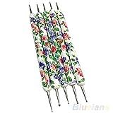 display085x Floral 2Weg Dotting Maniküre Werkzeuge Gemälde Pen Nail Art Paint DIY Geschenk
