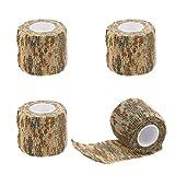 ekind Multifunktionale selbstklebend Schutz Camouflage Stealth Wasserdicht Tape Wrap (Desert Camouflage, 4Stück)