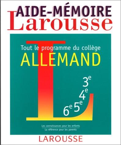 Descargar Libro Aide-mémoire allemand, tout le programme du collège de Françoise Mirabel-Sérodes