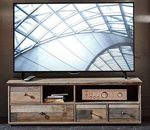 Froschkönig24 TV-Unterteil 18305 Lowboard TV-Möbel Fernsehmöbel Driftwood Nachbildung