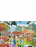 Falcon de luxe 2x 1000Teile Puzzle Set Sixties Summer Fete, multi, Einheitsgröße