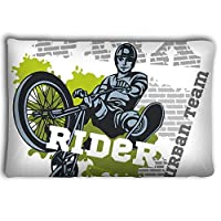 Mizongxia Pillow cases bmx rider urban team vector design freestyle bike trial illustration 20 * 30inch