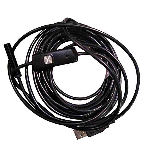 Anyutai USB periscopio, 7mm impermeabile periscopio USB per endoscopi PHote Inspection Pipe Camera con 6 LED 5M