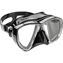 Cressi - Masque de plongée Sous Marine pour Adulte - Big Eyes - Noir (Noir) - Taille Unique
