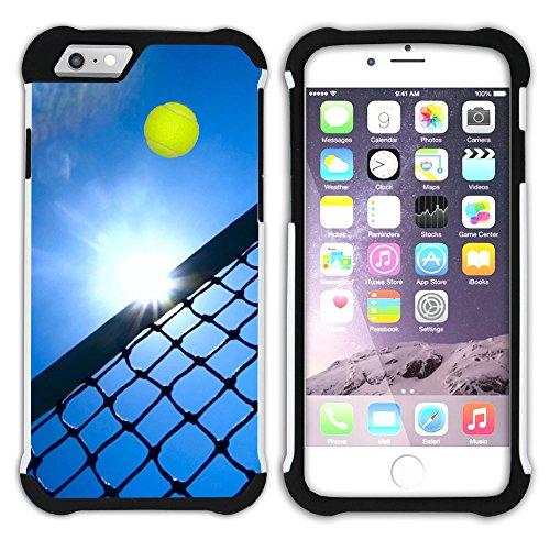 Graphic4You Tennis Ball Sport Hart + Weiche Kratzfeste Hülle Case Schale Tasche Schutzhülle für Apple iPhone 6 Plus / 6S Plus Design #9