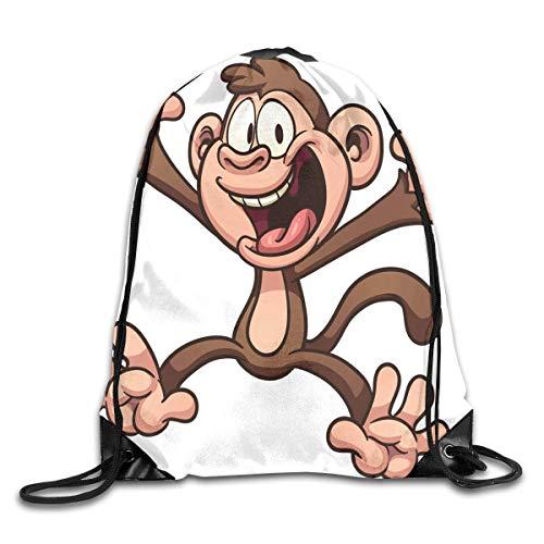 YuYfashions Drawstring Backpack Bag Monkey Brain Rucksack for Gym Travel Rucksack mit Kordelzug Monkey Telefon
