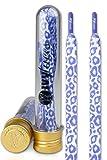 IVYLACES , Lacets multicolore Purple White Leopard 130cm