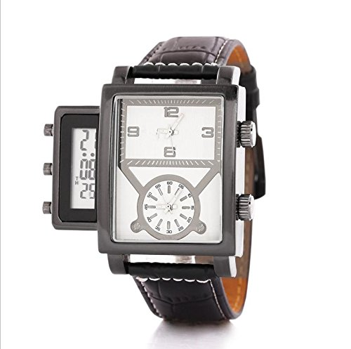 WGE Multifunktionale Männer Watch Double Time Men'S Quartz Watch Wasserdichte Elektronische Uhr , (Metal Zone Kostüm)