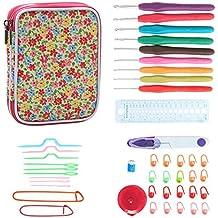 Teamoy Serie de Crochet Kits de Ganchillo Estuche para Crochet Organizador de Agujas Bolsa de Herramientas