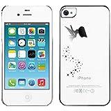 kwmobile Hülle für Apple iPhone 4 / 4S - Backcover Case Handy Schutzhülle - Cover klar Fee Design Silber Transparent
