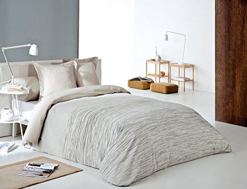 Reig Martí Chil - Juego de funda nórdica jacquard, 4 piezas, para cama de 180 cm, color beige