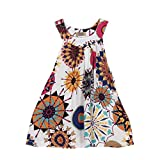 519R5CrQBNL. SL160  - NO.1 BEAUTY# Rosennie New Toddler Baby Flower Girls Princess Dress Wedding Party Kids Bohemia Dress (2T, White) Reviews  Best Buy price