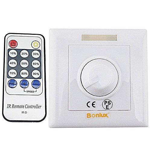 Bonlux Led Dimmer Regulador de intensidad Led 220V, con controlador remoto mando IR de 14 teclas, para Regulable E27 GU10 LED Bombillas/el proyector/Downlights