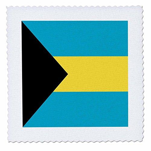 3drose QS _ 28223_ 2Bahamas flag-quilt Platz, 6von 6 (T-shirt Bahamas-flagge)