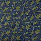 SCHÖNER LEBEN. Baumwolljersey Jersey Retro Linien Knoten grün blau 1,5m Breite