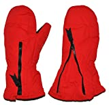 Unbekannt Fausthandschuhe -  rot  - mit langem Schaft - Größe: 4 bis 5 Jahre - Reißverschluß - leicht anzuziehen - Thermo gefüttert Thermohandschuh - Fausthandschuh H..