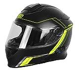 Origine Helmets 204271729100105 Delta Motion Matt Casco Apribile con Bluetooth Integrato, Lime, L