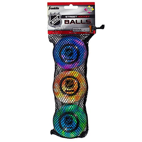 franklin-sports-nhl-extreme-color-high-density-street-roller-3-pvc-hockey-balls
